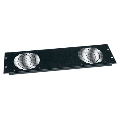 Fan Panel Accommodates: Three 4 1/2 Fans, Finish: Black Brushed Anodized
