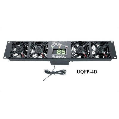 UQFP Series Ultra Quiet Fan Panel, with Local Display Number of Fans: 2