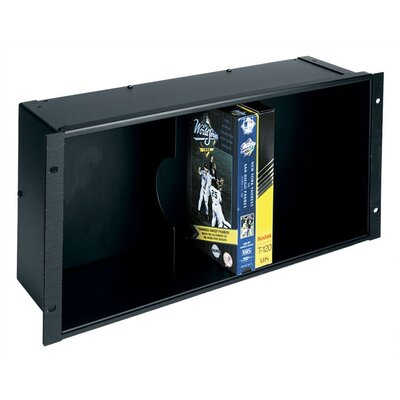 VHS Tape Rackmount Media Holder Fits: 13 VHS in Large Padded Case (powdercoat N/A), Finish: Textured black powder coat