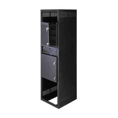 Vented Security Door for Rackmount Rack Height: 35 H (20U Space)