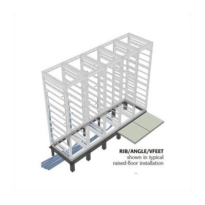 RIB Series Raised Floor Support Angles, for WRK racks Number of Bays: 3