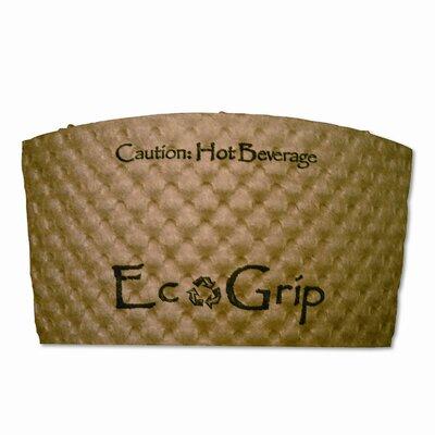 Ecogrip Recycled Content Hot Cup Sleeve, Kraft, 1300/Carton ECOEG2000