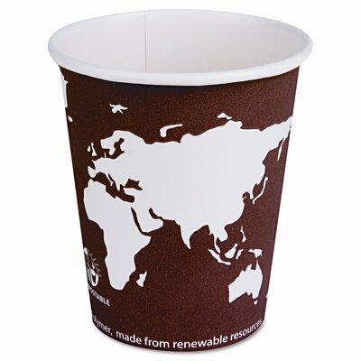 World Art Renewable Resource Compostable Hot Drink Cups, 20 Oz, 1000/Carton ECOEPBHC20WA