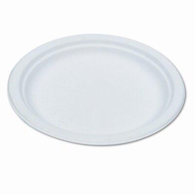 "Compostable Sugarcane Dinnerware, 6"" Plate, 1000/Carton"