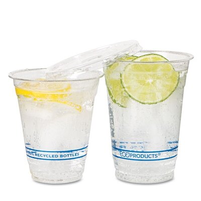 Bluestripe Recycled Content Cold Drink Cups, 12Oz, 1000/Carton ECOEPCR12