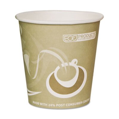 Eco-Products Evolution World 24% PCF Hot Drink Cups, 10oz, Tan, 50/Pack ECOEPBRHC10EWPK