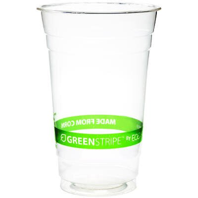 GreenStripe Plastic Eco Cold Cup in Clear ECOEPCC20GS