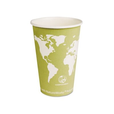 World Art Renewable Resource Compostable Hot Cups, 16 Oz, 50/Pack ECOEPBHC16WAPK