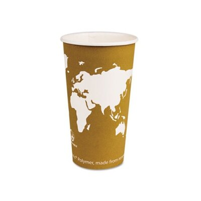 World Art Renewable Resource Compostable Hot Drink Cups, 20 Oz, 50/Pack ECOEPBHC20WAPK