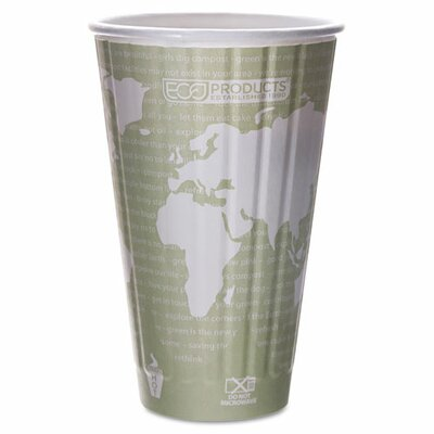 Insulated Compostable Hot Cup (800 Pack) ECOEPBNHC16WD
