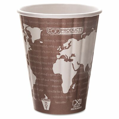 Insulated Compostable Hot Cup (600 Pack) ECOEPBNHC8WD