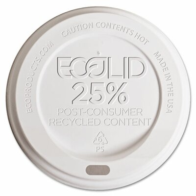 25% Recycled Content Hot Cup Lid (1,000 Pack) ECOEPHL8WR