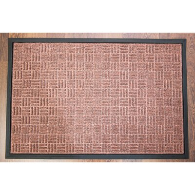 Doortex Brown Ribbed Heavy Duty Indoor/Outdoor Entrance Doormat Rug Size: 3 x 2