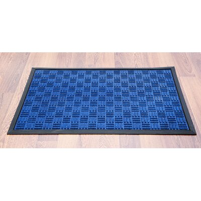 Doortex Blue Ribbed Heavy Duty Indoor/Outdoor Entrance Doormat Rug Size: 6' x 4'