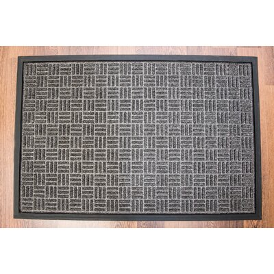 Doortex Charcoal Ribbed Heavy Duty Indoor/Outdoor Entrance Doormat Rug Size: 3 x 2