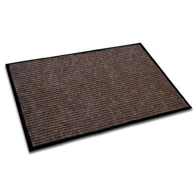 Hastings Rectangular Indoor Ribbed Entrance Doormat Size: Rectangle 4 x 3, Color: Brown