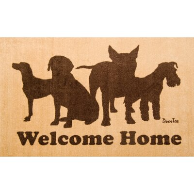 Doortex Rectangular Indoor Dog Welcome 24 W x 39 L Porch Mat