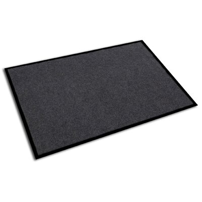 Hastings Rectangular Indoor Plush Entrance Doormat Size: Rectangle 3 x 2, Color: Granite