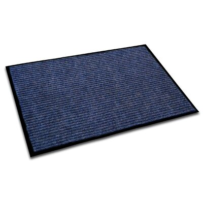 Hastings Rectangular Indoor Ribbed Entrance Doormat Mat Size: Rectangle 4 x 3, Color: Blue
