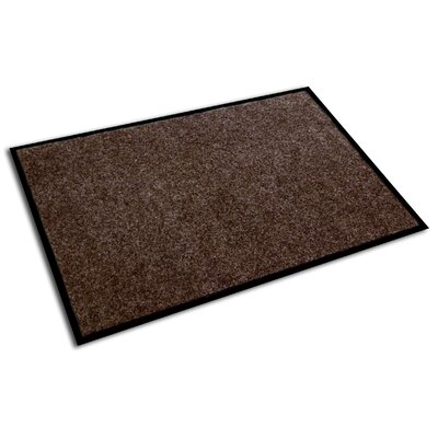 Doortex Rectangular Indoor Plush Entrance Doormat Size: 4 x 3, Color: Walnut