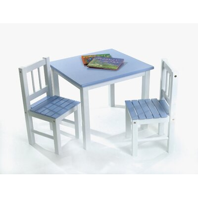 Lipper International Kids' 3 Piece Table and Chair Set - Color: Blue and White at Sears.com