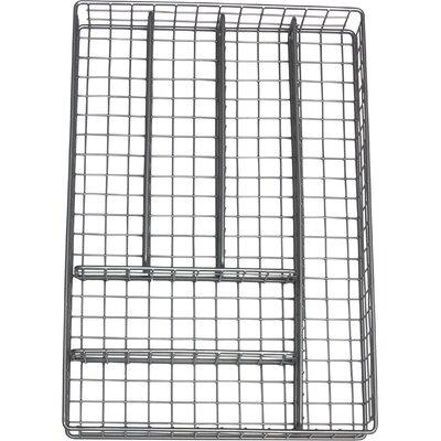 6 Compartment Flatware Tray Color: Gray 8168