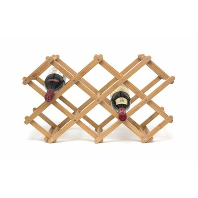 Mirabelle Bamboo 10 Bottle Tabletop Wine Bottle Rack