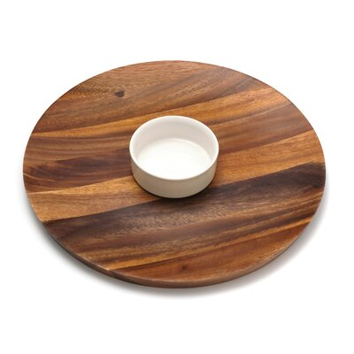 Lipper International Acacia Serveware Oval Serving Platter | Wayfair