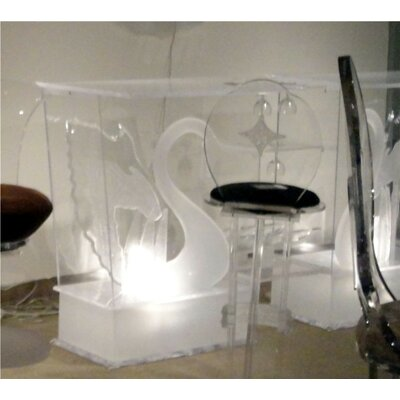 Legend Swan Acrylic Bar with Wine Storage Finish: Frosted