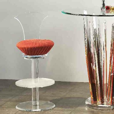 Swivel Bar Stool Upholstery: Mandarin