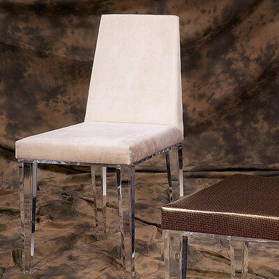 Lineair Acrylic Parsons Chair Upholstery: Oyster