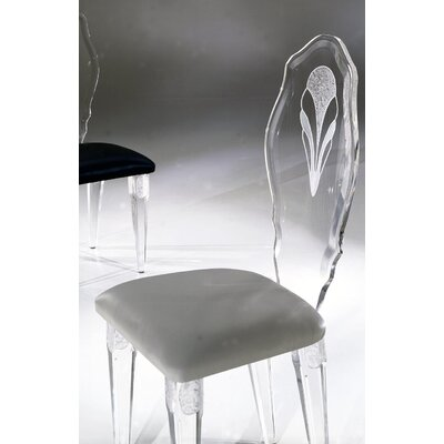 Palace Acrylic Side Chair Upholstery: White