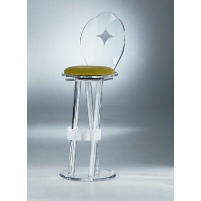 Swivel Bar Stool Upholstery: Lemon