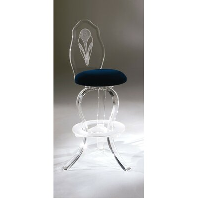 Palace 30 Swivel Bar Stool Upholstery: Azure