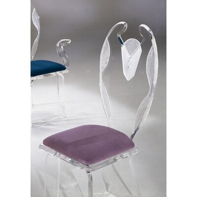 Shahrooz Legend Swan Elegante Acrylic Dining Chair  (Set of 4) Fabric: Celery (SHZ1013_5008757)