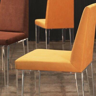 Lineair Acrylic Parsons Chair Upholstery: Mandarin
