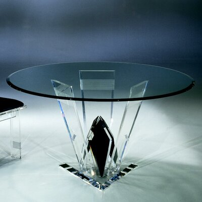 Diamond Cut Acrylic Dinette Table