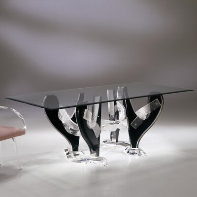 Snake Dining Table with 1/2 inch Thick Glass