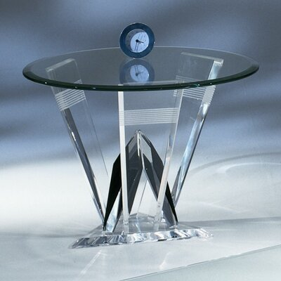 Diamond Cut Acrylic End Table
