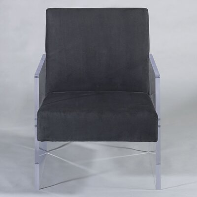 Block Arm Chair Upholstery: Charcoal