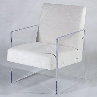 Block Armchair Upholstery: White