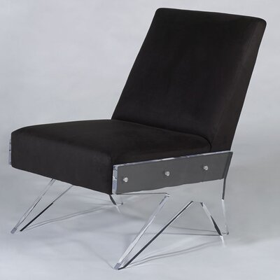Celestin Slipper Chair Upholstery: Charcoal