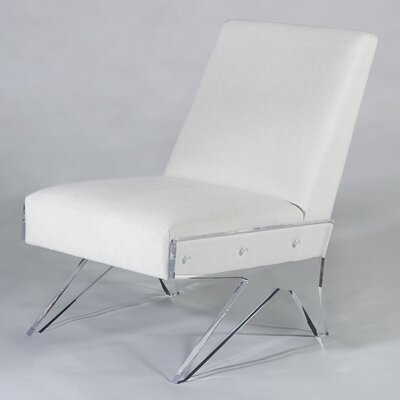 Celestin Slipper Chair Upholstery: White