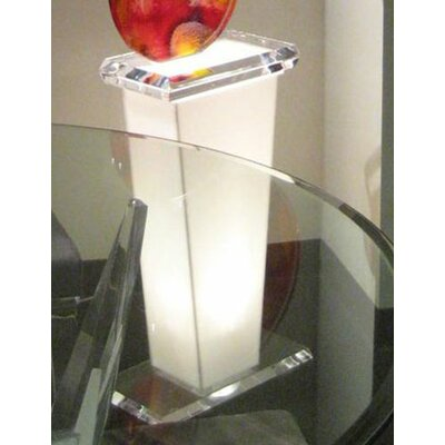 Tourment White Pedestal for Mini Circulus Sculpture