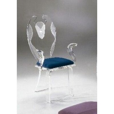 Legend Swan Acrylic Elegante Acrylic Side Chair Upholstery: Navy