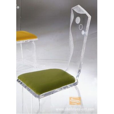 Infinity Acrylic Side Chair Upholstery: Celery