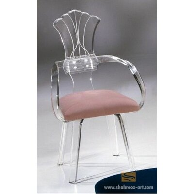 Shellback Acrylic Arm Chair Upholstery: Lilac