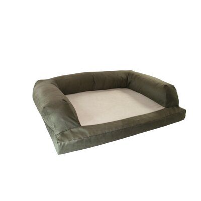 Baxter Couch Bolster Dog Bed Size: Medium (33 L x 25 W), Color: Poly-Suede Sage