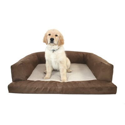Baxter Couch Bolster Dog Bed Size: Large (40 L x 30 W), Color: Poly-Suede Chocolate