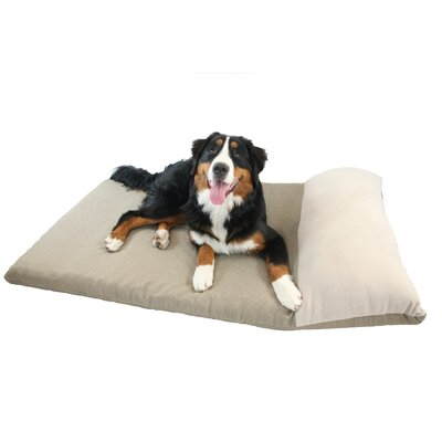 Ultimate Dog Pillow Size: Large (40 L x 30 W), Color: Brown Plaid